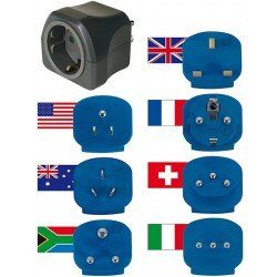 Brennenstuhl universel travel adapter - 7 pack