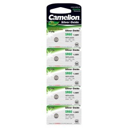 Camelion 5x SR60W, 364, SR621SW 1,55Volts silveroxide button cells