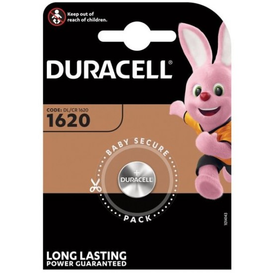 Duracell CR1620 - DL1620 - 5009LC - CR0523 3Volst lithium button cell battery