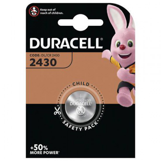 Duracell CR2430 - DL2430 - 5011LC 3Volts lithium button cell battery