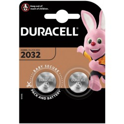 Duracell 2x CR2032 - DL2032 - 5004LC 3Volts lithium button cells