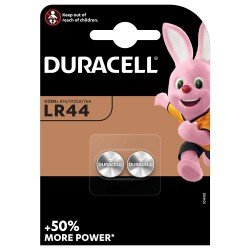Duracell 2x LR44 - AG13 1,5Volts alkaline button cells batteries