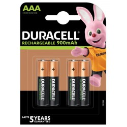 Duracell Rechargeable 4x AAA 900mAh 1,2Volts rechargeable batteries