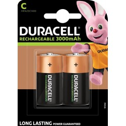 Duracell Recharge Ultra 2x C 3000mAh 1,2Volts rechargeable batteries