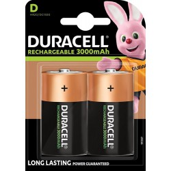 Duracell Recharge Ultra 2x D 3000mAh 1,2Volts rechargeable batteries