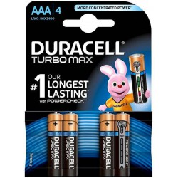 Duracell Turbo Max 4x AAA - MX1400 - LR3 - Potlood - Micro 1,5Volt alkaline batteries