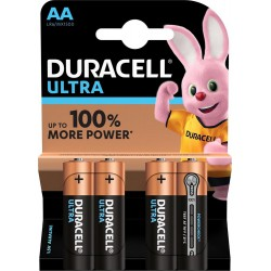 Duracell Ultra 4x AA - MX1500 - LR6 1,5Volts alkaline batteries