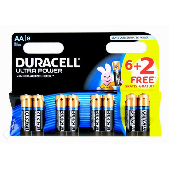 Duracell Ultra Power 4 Alkaline Batterijen AA, LR6, MX1500 1,5Volt Alkaline batteries
