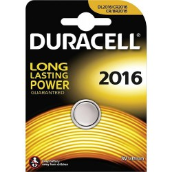 Duracell CR2016 - DL2016 - 5000LC 3Volts lithium button cell battery