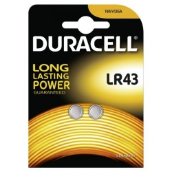 Duracell 2x LR43, V12GA, LR1142, L1142, AG12 1,5Volts alkaline button cells