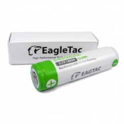 EagleTac ET3400 18650 3400mAh 3,7Volt li-ion oplaadbare batterij - button top