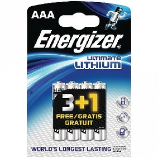 Energizer Ultimate 3+1 AAA - FR3 - L92 1,5Volt lithium batteries