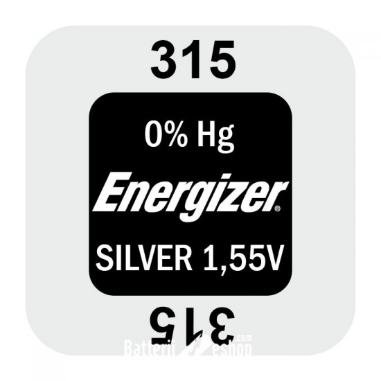Energizer 315 - SR716SW - SR67 1,55Volts silver oxide watch button cell battery