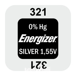 Energizer 321- SR616SW - SR65SW 1,55Volts silver oxide watch button cell battery