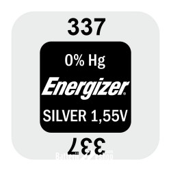 Energizer 337 - SR416SW 1,55Volts silver oxide watch button cell battery