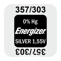 Energizer 357/303 - SR44SW 1,55Volts silver oxide watch button cell battery