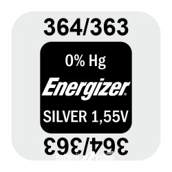 Energizer 364/363 - SR621SW - SR60SW 1,55Volts silver oxide watch button cell battery