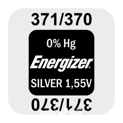 Energizer 371/370 - SR920SW - SR69SW 1,55Volts silveroxide watch button cell battery