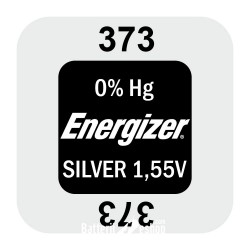 Energizer 373 - SR916SW - SR916W - SR68 1,55Volts silver oxide watch button cell battery