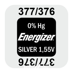 Energizer 377/376 - SR626SW - SR66SW 1,55Volts silver oxide watch button cell battery