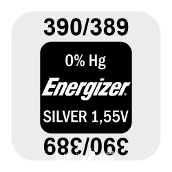 Energizer 390/389 - SR1130SW - SR54 1,55Volts silver oxide watch button cell battery