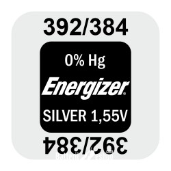 Energizer 392/384 - SR736SW - SR41SW 1,55Volts silver oxide watch button cell batterij