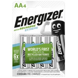 Energizer Extreme 4x AA HR6 2300mAh 1,2Volts NiMH rechargeable batteries