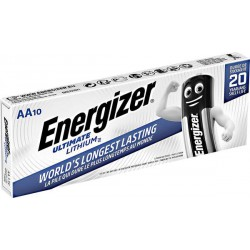 Energizer Ultimate Lithium 10x AA - FR6 - L91 1,5Volts batteries