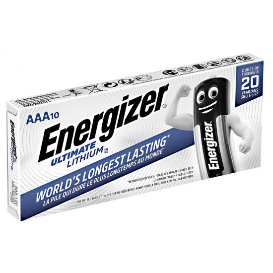 Energizer Ultimate Lithium 10x AAA - L92 1,5Volts batteries