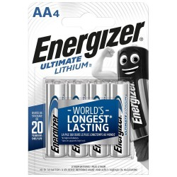 Energizer Ultimate 4x AA - FR6 - L91 1,5Volts lithium batteries