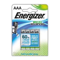 Energizer Eco Advanced 4x AAA - LR3 - Potlood - Micro 1,5Volt Alkaline Batterijen