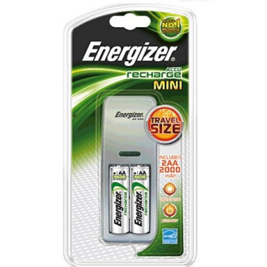 Energizer Mini Charger incl. 2x AA HR6 2000 mAh Chargers