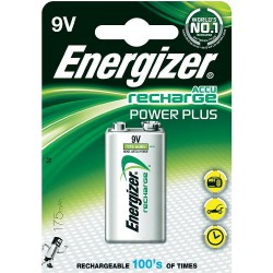 Energizer Power Plus 9V 175mAh E-block HR22 NiMH oplaadbare batterij