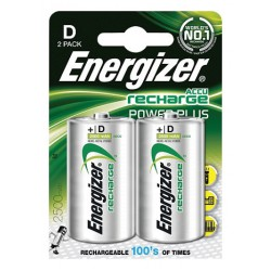 Energizer Power Plus 2x D HR20 2500mAh 1,2Volt oplaadbare batterijen