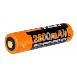 Fenix ARB-L18-2600 18650 2600mAh 3,7Volt Li-ion battery - button top
