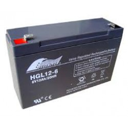 Fullriver HGL12-6 6Volts 12Ah (20hr) leadacid accu/battery VRLA 151x51x101mm