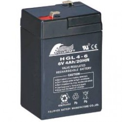 Fullriver HGL4-6 6Volts 4Ah (20hr) leadacid accu battery VRLA 70x47x107mm