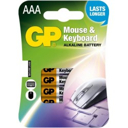 GP Mouse & Keyboard 4x AAA - LR3 - Potlood - Micro 1,5Volt alkaline batterijen