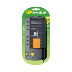 GP PB320 universal charger for rechargeable NiMH 4x AA/AAA/C/D or 2x 9V batteries