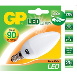 GP Lighting LED Kaars Lamp E14 - 3,2W (25W) - Warm wit (2900K) - 250 Lumen - mat