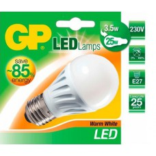GP Lighting LED Bol Lamp E27 - 3,5W (25W) - Warm wit (2900K) - 250 Lumen - mat