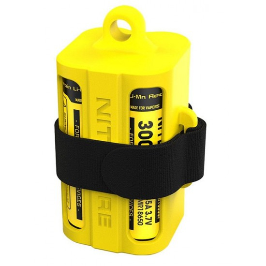 Nitecore NBM40 battery magazine - yellow/black