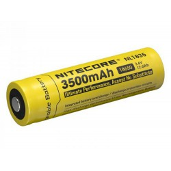 Nitecore NL1835 18650 3500mAh 3,6Volts 12.6Wh li-ion battery - button top