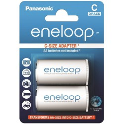 Panasonic eneloop 2x AA to C spacer/adapter