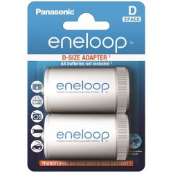 Panasonic eneloop 2x AA to D spacer/adapter