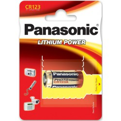 Panasonic Lithium Power CR123A - DL123 - CR17345 3Volt fotobatterij