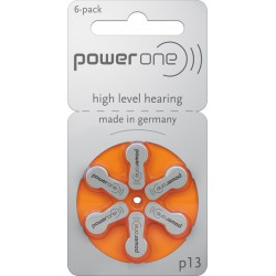 Power One 6x type P13, Orange, PR48, A13 1,45Volt hearing aids batteries