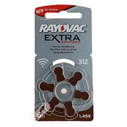 Rayovac Extra Advanced 6x 312 - PR41 1,45Volts hearing aid batteries