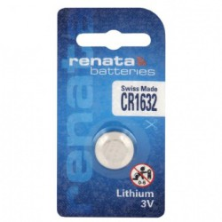 Renata CR1632 - DL1632 3Volts lithium button cell battery
