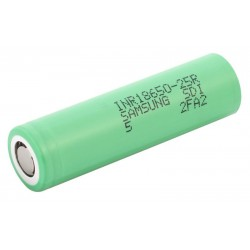 Samsung INR18650-25R 18650 2500 mAh li-ion battery - Unprotected